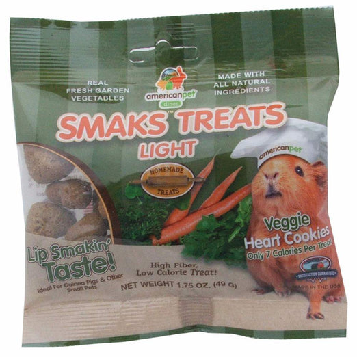 American Pet Diner Smaks Treats Light Veggie Heart Cookies For Small Animals 1.75oz - Kohepets