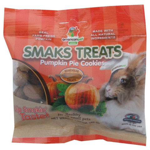 American Pet Diner Smaks Treats Pumpkin Pie Cookies For Small Animals 1.75oz