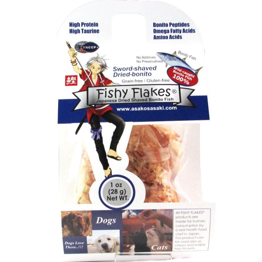 AsakoSasaki Fishy Flakes Dried Shaved Bonito Fish Pet Treats