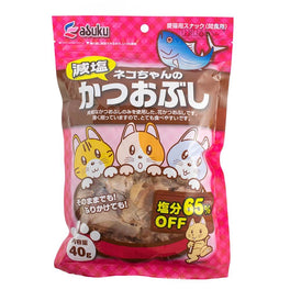 Asuku Reduced Salt Katsuobushi Flake Toppers Cat Food 40g