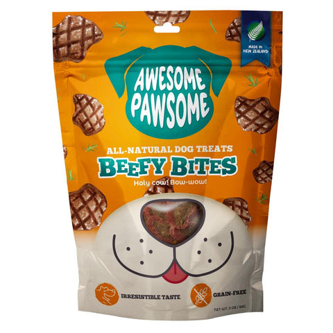 24% OFF: Awesome Pawsome Beefy Bites Grain-Free Dog Treats 3oz