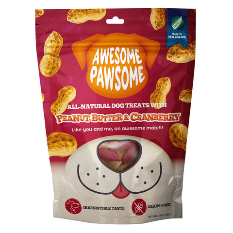 Awesome Pawsome Peanut Butter & Cranberry Grain-Free Dog Treats 3oz - Kohepets