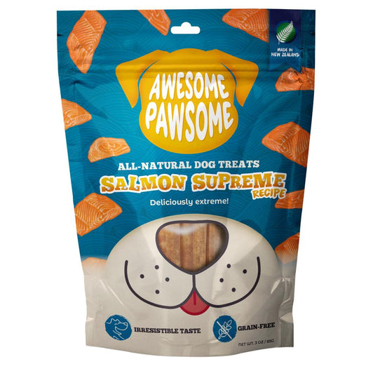 Awesome Pawsome Salmon Supreme Grain-Free Dog Treats 3oz - Kohepets