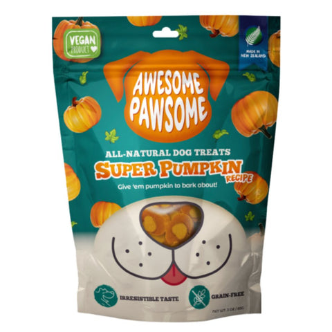 3 FOR $12: Awesome Pawsome Super Pumpkin Grain-Free Vegetarian Dog Treats 3oz - Kohepets