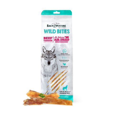 20% OFF: Back-2-Nature Wild Bites Beef Tendon Air Dried Dog Treats 125g - Kohepets