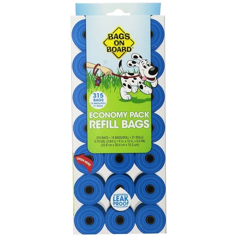 15% OFF: Bags On Board Blue Waste Bag Refill Economy Pack 315ct - Kohepets