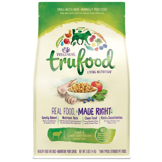 Wellness TruFood Baked Nuggets Grain-Free Lamb & Lamb Liver Adult Recipe Dry Dog Food - Kohepets