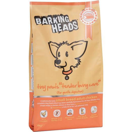 Barking Heads Tiny Paw's Tender Loving Care Dry Dog Food 4kg
