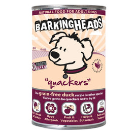 Barking Heads Quackers Duck Grain Free Canned Dog Food 400g