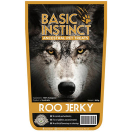 Basic Instinct Roo Jerky Dog Chew Treats 200g