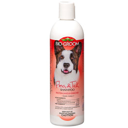 Bio-Groom Flea & Tick Shampoo Protein Lanolin Enriched Shampoo For Dogs And Cats 12oz