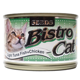 Bistro Cat Light Tuna Fish & Chicken Canned Cat Food 170g