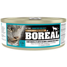 Boreal Cobb Chicken, Atlantic Salmon & Canadian Duck Grain Free Canned Cat Food 156g