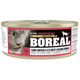 Boreal Cobb Chicken & Atlantic Salmon Grain Free Canned Cat Food 156g