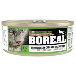 25% OFF: Boreal Cobb Chicken & Canadian Duck Grain Free Canned Cat Food 156g