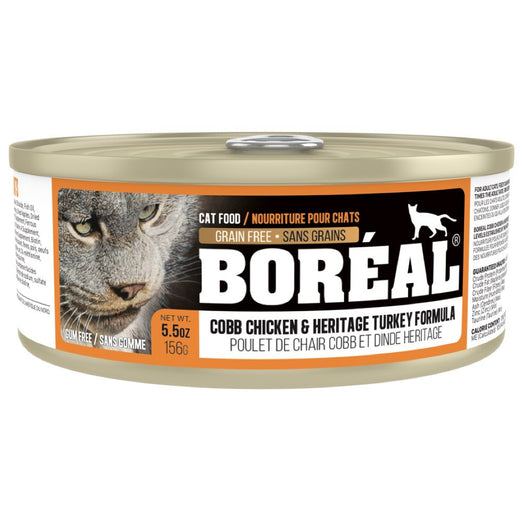 Boreal Cobb Chicken & Heritage Turkey Grain Free Canned Cat Food 156g
