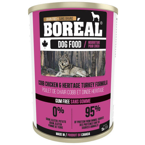 10% OFF: Boreal Cobb Chicken & Heritage Turkey Grain Free Canned Dog Food 369g