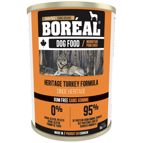 10% OFF: Boreal Heritage Turkey Grain Free Canned Dog Food 369g