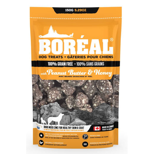 Boreal Peanut Butter & Honey Grain Free Dog Treats 150g