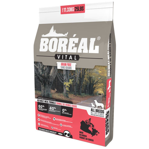 25% OFF: Boreal Vital Red Meat Meal Grain-Free Dry Dog Food