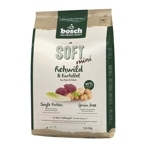 Bosch High Premium Soft+ Mini Roe Deer & Potato Grain Free Dry Dog Food - Kohepets