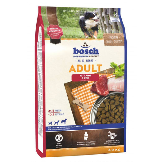 Bosch High Premium Adult Lamb & Rice Dry Dog Food - Kohepets