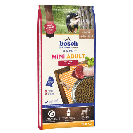 Bosch High Premium Adult Mini Lamb & Rice Dry Dog Food - Kohepets