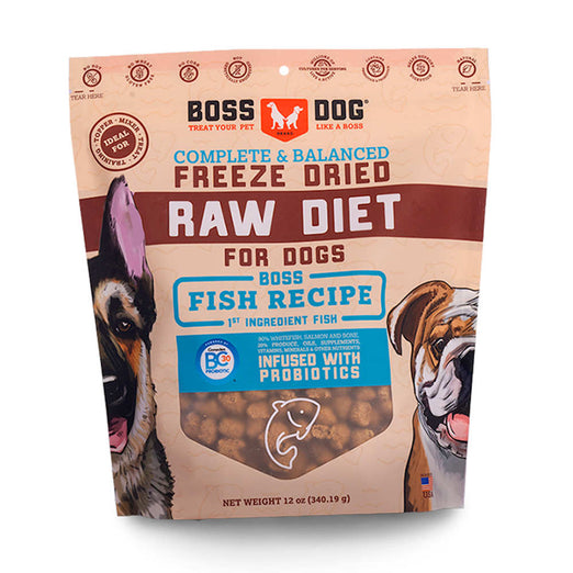 Boss Dog Freeze-Dried Fish Recipe Dog Food 12oz - Kohepets