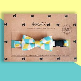 Bowtix Handmade Dog Collar With Removable Bowtie - Bubblegum