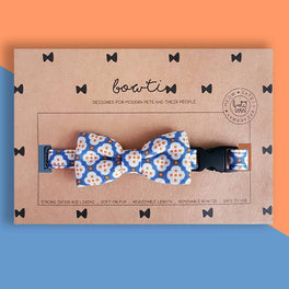 Bowtix Handmade Cat Collar With Removable Bowtie - Dainty Motif
