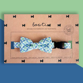 Bowtix Handmade Dog Collar With Removable Bowtie - Kiku Prints