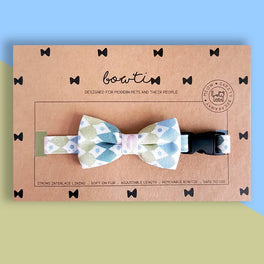 Bowtix Handmade Dog Collar With Removable Bowtie - Mulberry