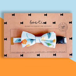Bowtix Handmade Cat Collar With Removable Bowtie - Kotoritachi (Light Blue)