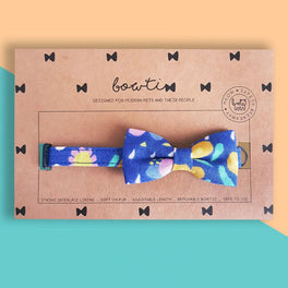 Bowtix Handmade Cat Collar With Removable Bowtie - Kukki Kukkii Clouds