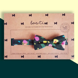 Bowtix Handmade Dog Collar With Removable Bowtie - Kukki Kukkii Meadow