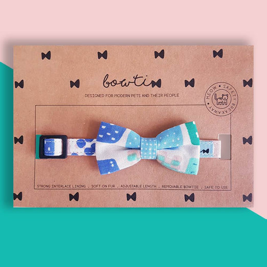 Bowtix Handmade Cat Collar With Removable Bowtie - Pelto Day