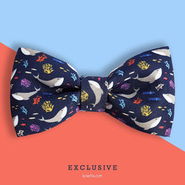 Bowtix Handmade Dog Collar With Removable Bowtie - Seas The Day