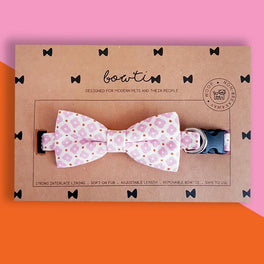 Bowtix Handmade Dog Collar With Removable Bowtie - Sweet Sakura