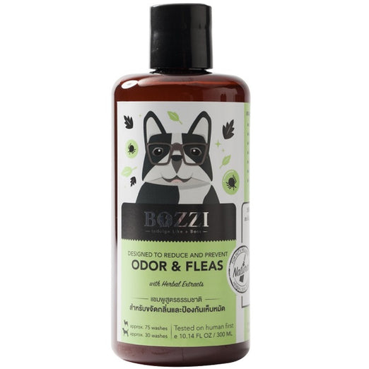 15% OFF (Exp Dec 20): Bozzi Odor & Fleas Control Original Dog Shampoo 300ml - Kohepets