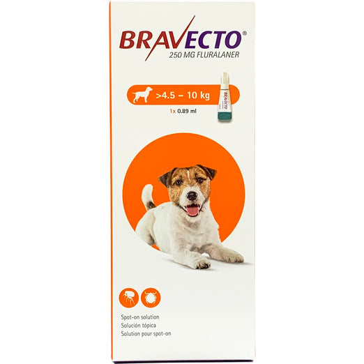 Bravecto Flea & Tick Spot On Solution For Small Dogs (4.5kg - 10kg) 1ct - Kohepets