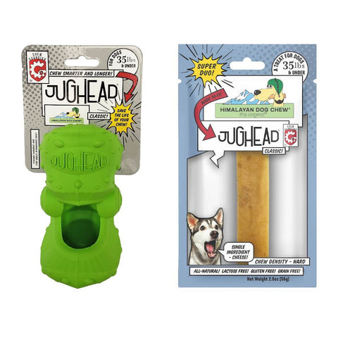 'BUNDLE DEAL': Himalayan Dog Toy Jughead Chew Guardian Dog Classic Toy + Jughead Classic Chew Set - Kohepets