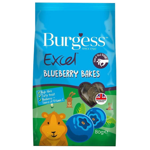 Burgess Excel Blueberry Bakes Small Animal Treats 80g - Kohepets