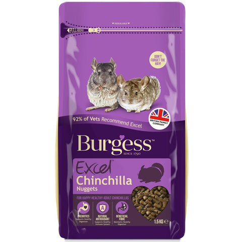 Burgess Excel Tasty Nuggets For Chinchillas 1.5kg - Kohepets