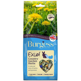 Burgess Excel Country Garden Herbs Nature Snack For Small Animals 120g