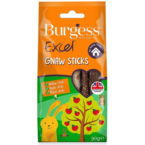 Burgess Excel Gnaw Sticks Nature Snack For Small Animals 90g - Kohepets