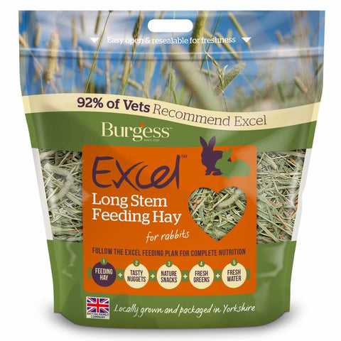Burgess Excel Long Stem Feeding Timothy Hay 1kg
