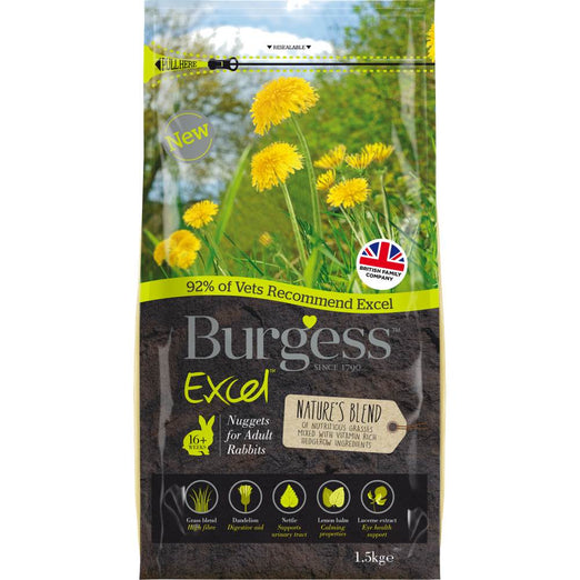 Burgess Excel Nature's Blend Adult Rabbit Food 1.5kg