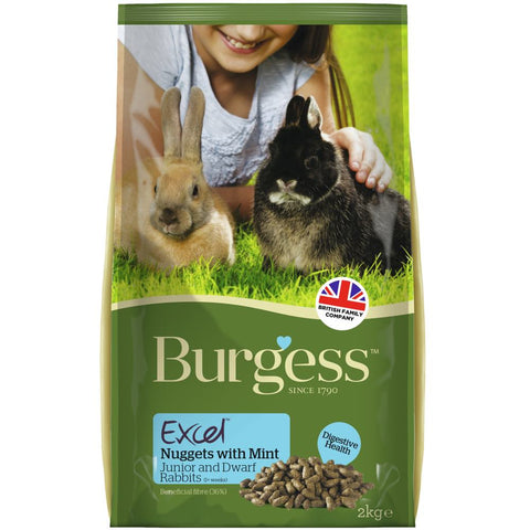 Burgess Excel Tasty Nuggets For Junior & Dwarf Rabbits 2kg