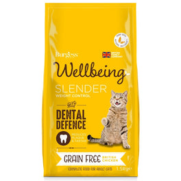 '50% OFF': Burgess Wellbeing Grain Free Slender Chicken Adult Dry Cat Food 1.5kg (Exp 5 Apr 19)