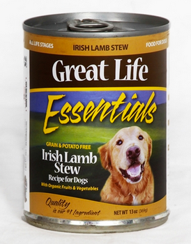 Great Life Essentials Grain & Potato-Free Irish Lamb Stew Canned Dog Food 13oz